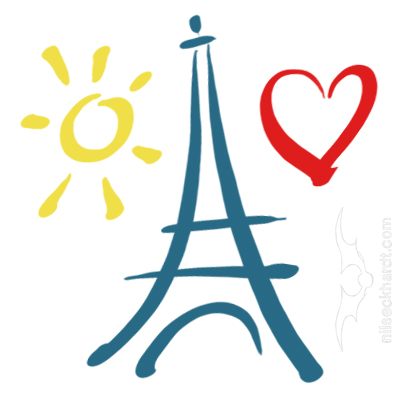 Comic und Cartoon - Eiffelturm