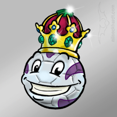 Comic und Cartoon - König Fussball