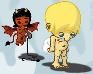 Comic und Cartoon - Engelchen und Teufelchen