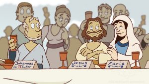 traditionell animierte 2D Zeichentricksequenzen NDR Bibelquiz