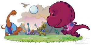 Kindermedien - Wandtatto Dinosaurier