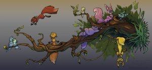 Kindermedien - Wandtatto Eichhörnchen