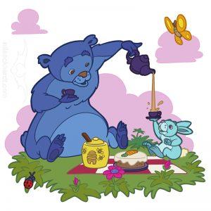 Kindermedien - Wandtatto Teepause